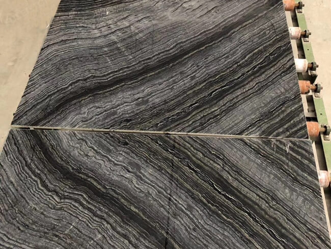 silver wave marble for bookmatched
