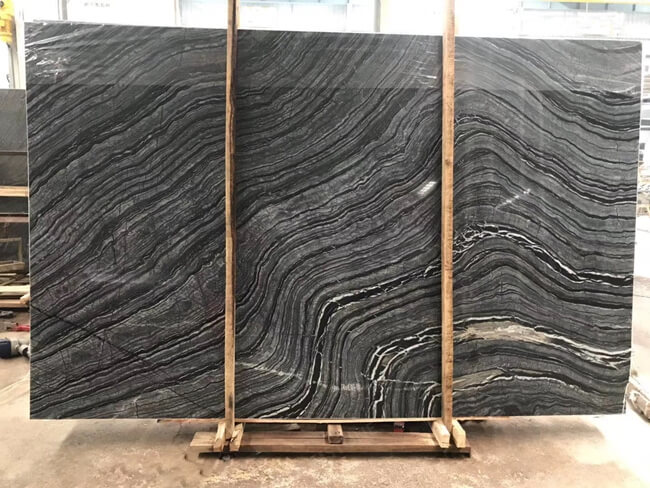 silver wave marble slab for kitchen tiles