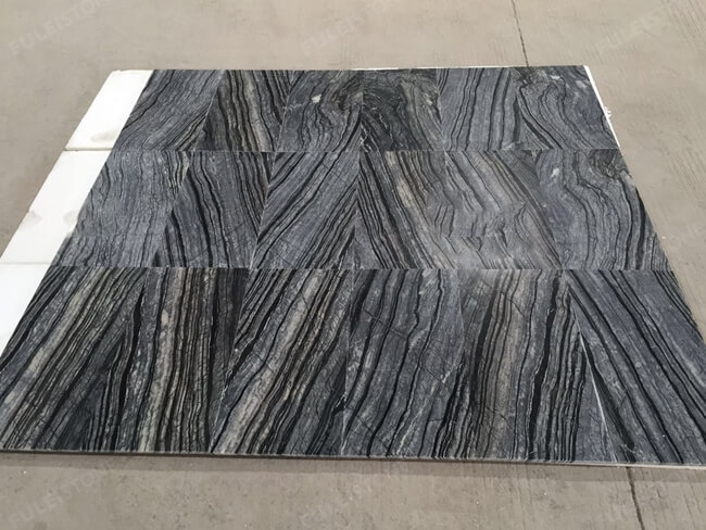 silver wave marble tile