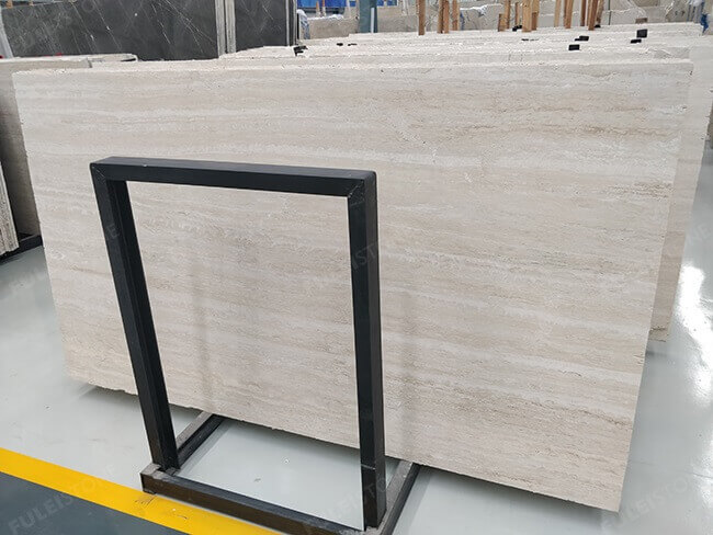 straight veins white travertine slabs (1)