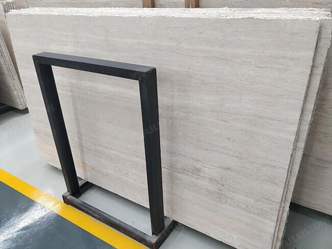 straight veins white travertine slabs (2)