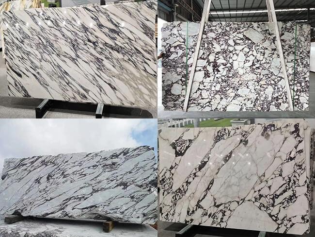 Calacatta Viola Marble Stone Block
