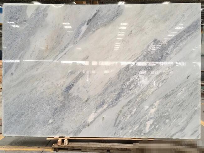 Polished Calcite Azul Slabs (4)