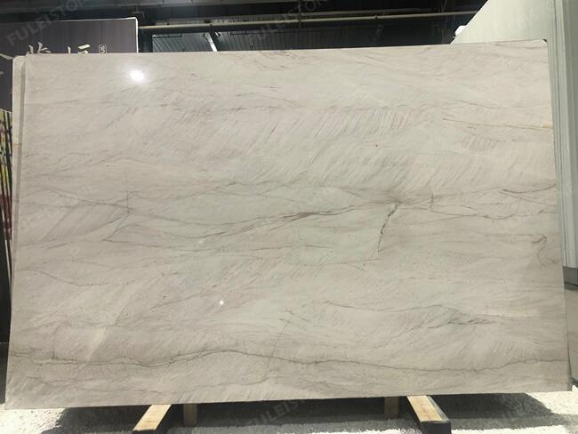 White Mustang Quartzite Polished Slabs (1)