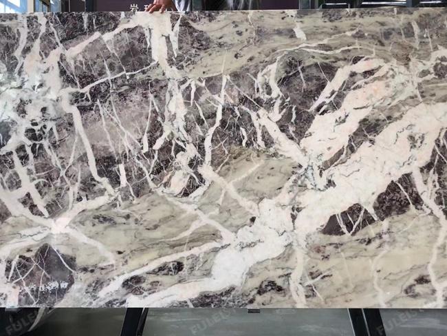 Amazon purple marble big slabs with big white veins