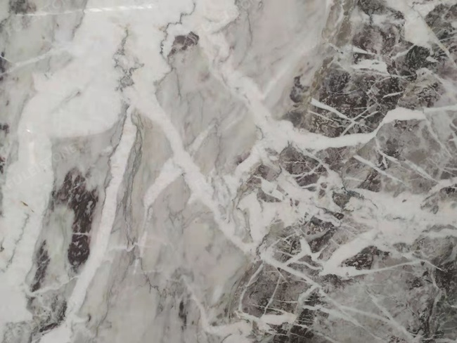 Amazon purple marble close-up with tiny veins