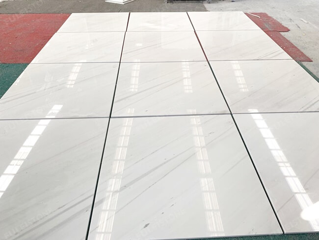 Biacnco Sivec White Marble Tiles Drylay