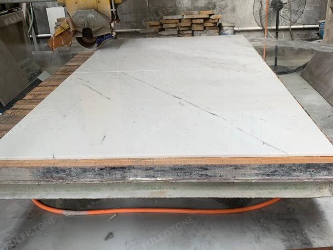 Bianco Sivec White Marble Cutting-New Quarry