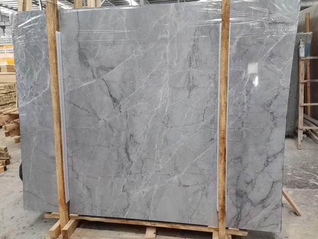 china grey marble slabs with tiny white veins