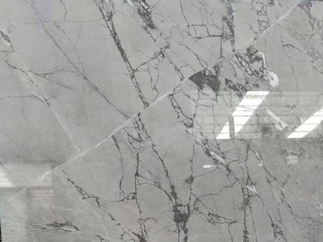 China grey marble close-up with big veins