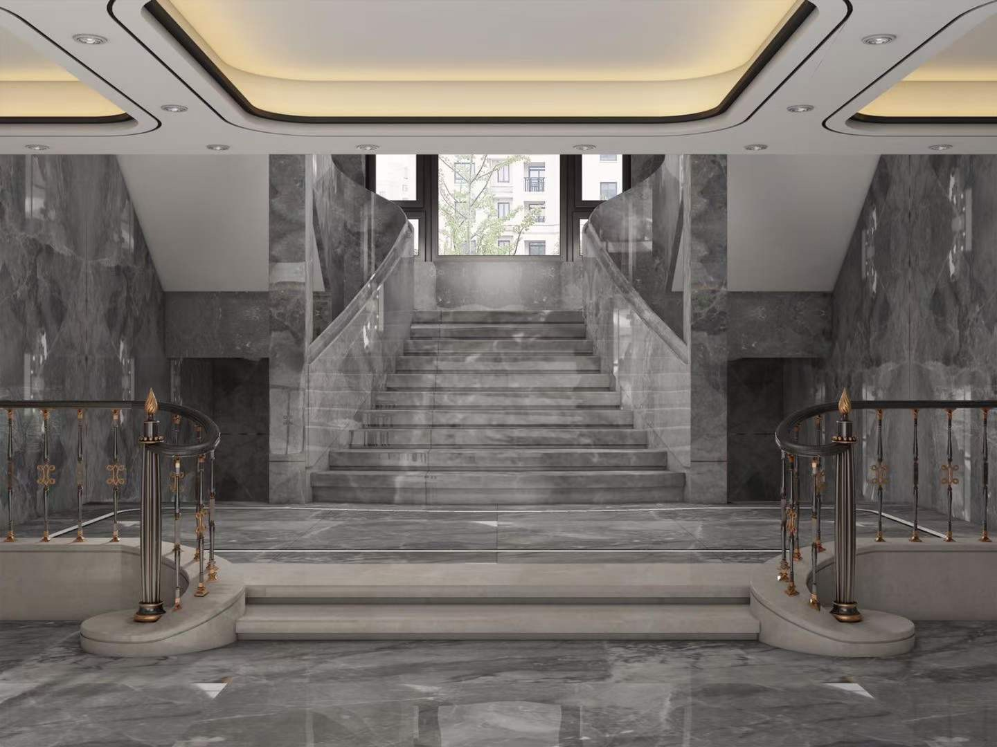 light china grey marble projects in the whole room