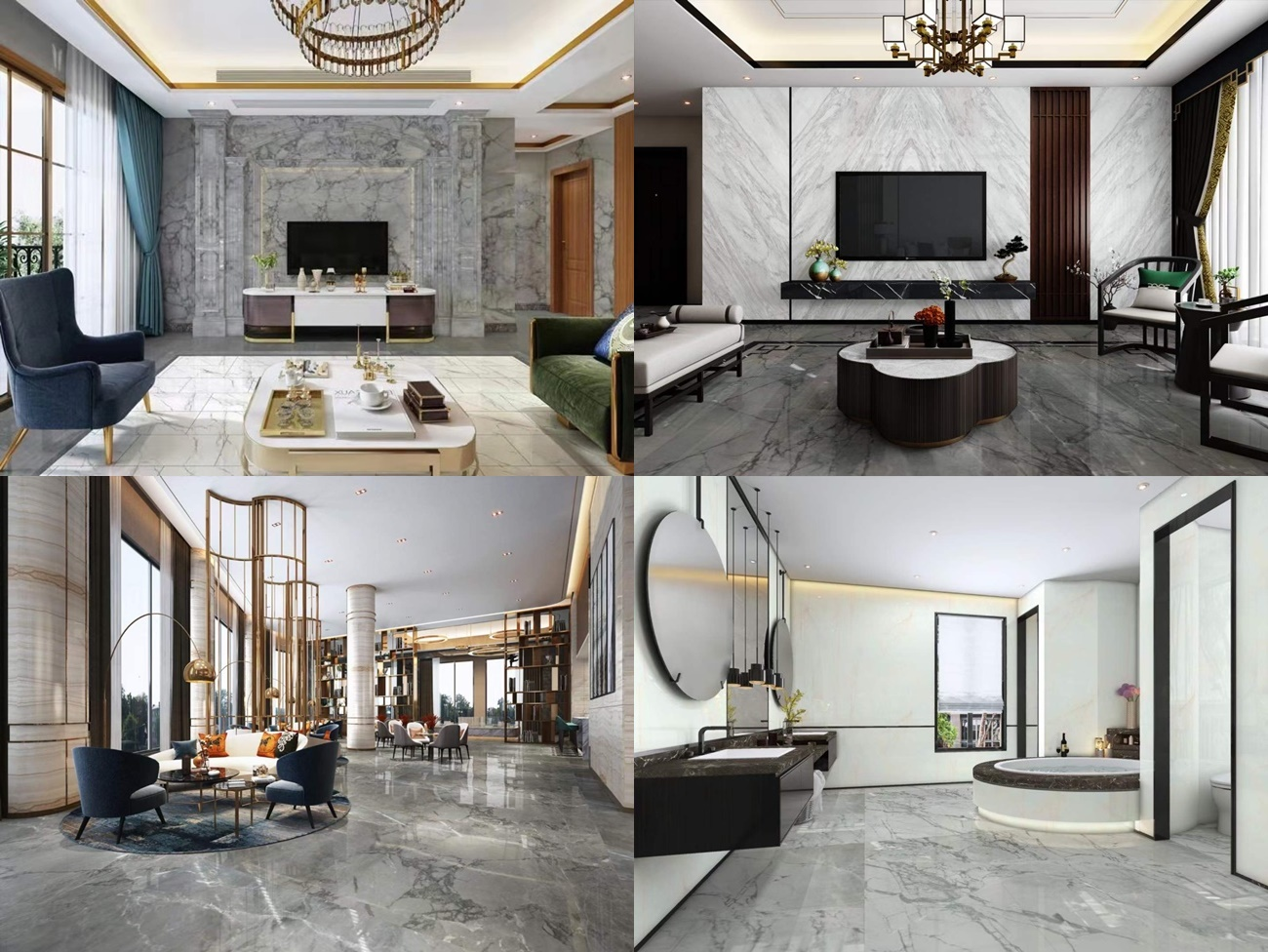 light china grey marble projects