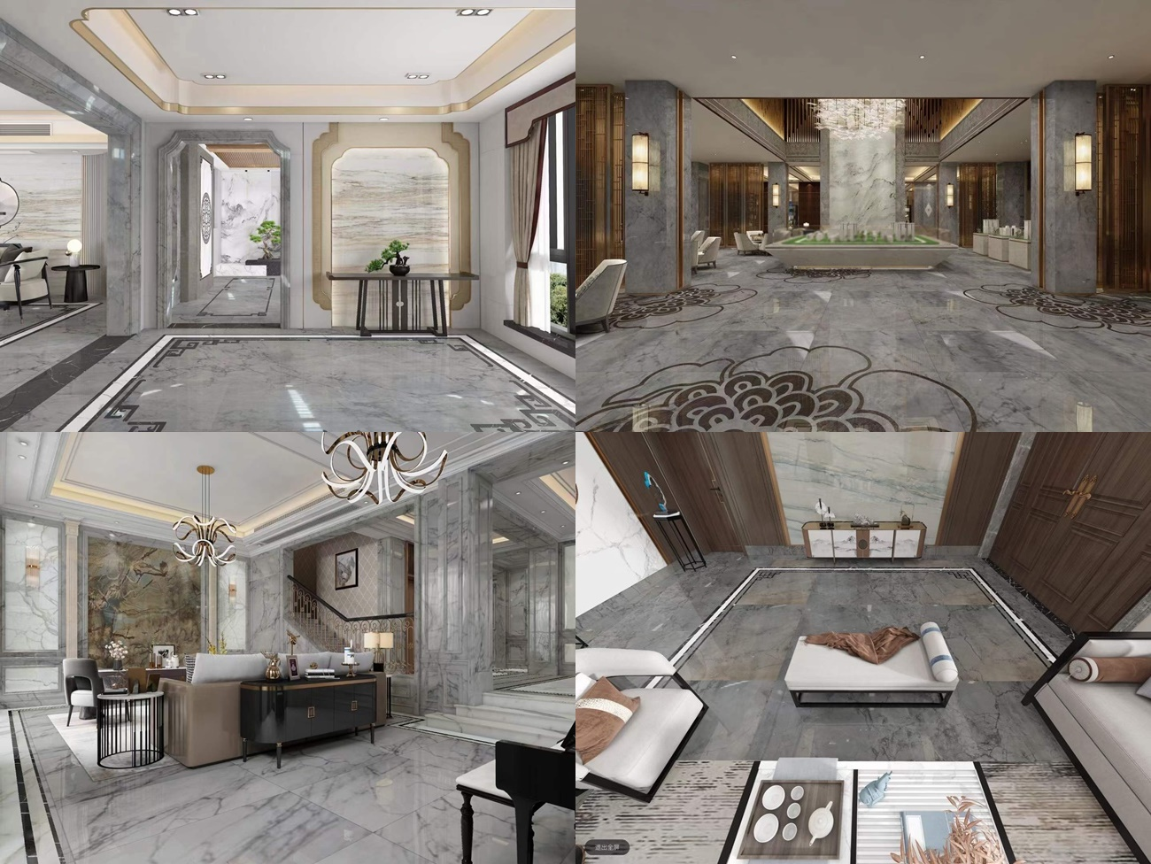light china grey marble projects with tiny veins