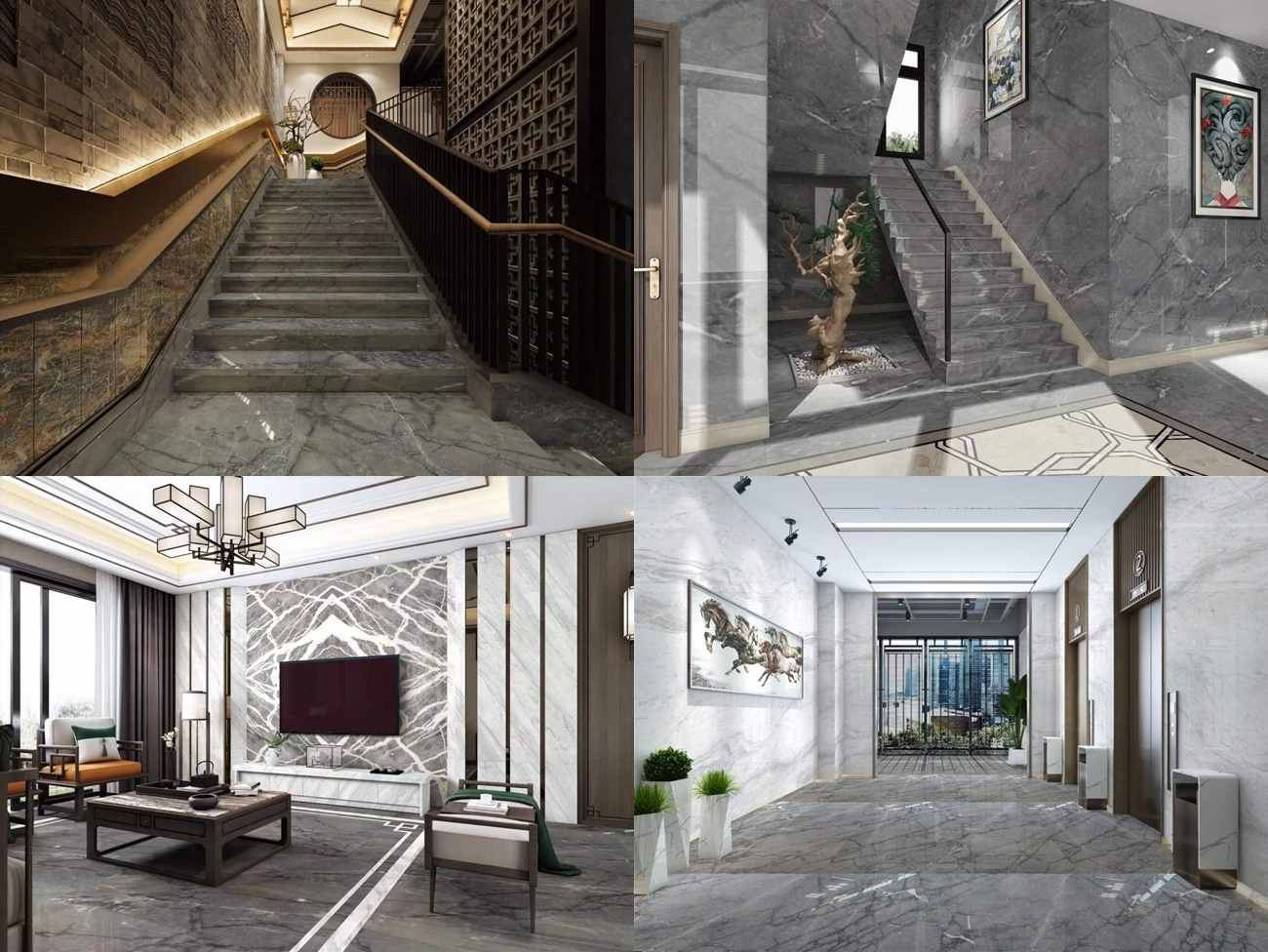 dark china grey marble projects with big veins