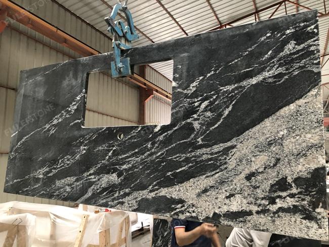 Chinese via lactea granite countertop bold veins