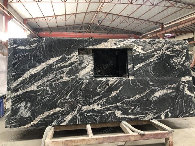 Chinese via lactea granite kitchen countertop bold veins