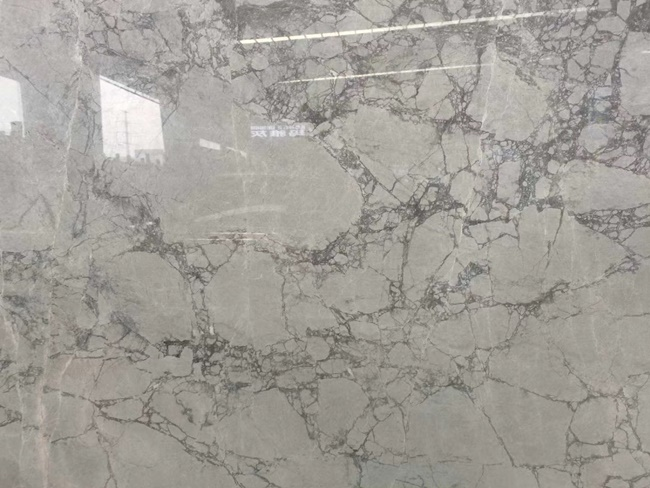 china grey marble slabs close-up with much veins