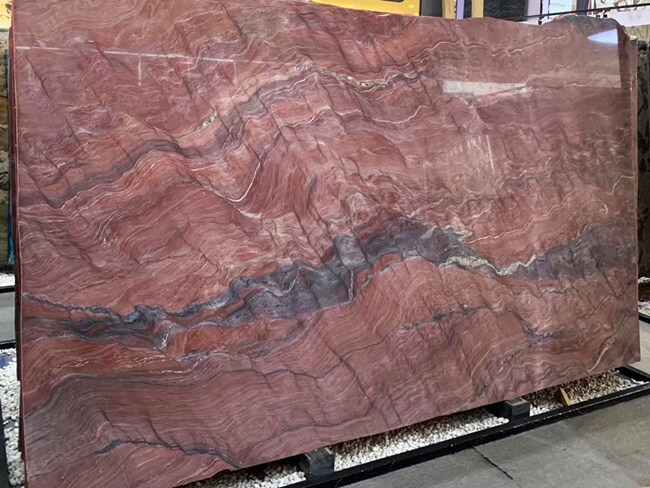 Large Slab of Polished Revolution Quartzite (1)