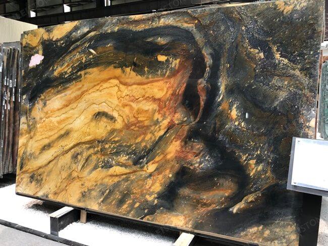 Phoenix Quartzite Slabs With More Yellow Veins (2)