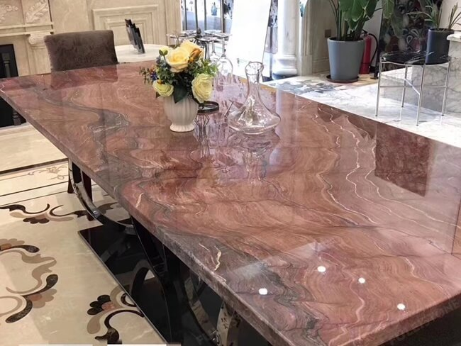 Polished Revolution Quartzite Table Tops