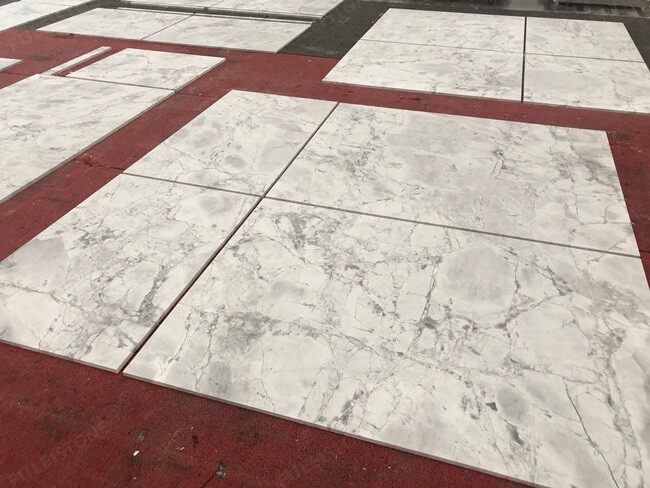 Super White Marble Tiles Dry Laying (2)