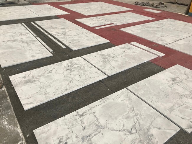 Super White Marble Tiles Dry Laying (3)
