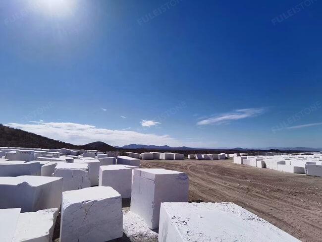 Bianco Rhino Marble Blocks