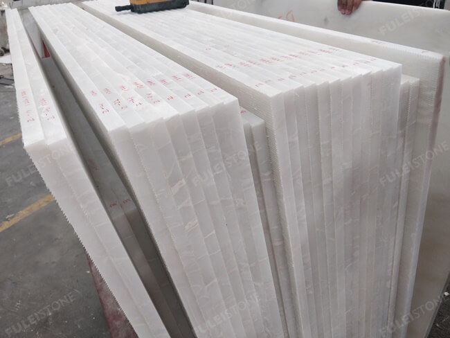 Bianco Rhino Marble Tiles-18mm calibrated