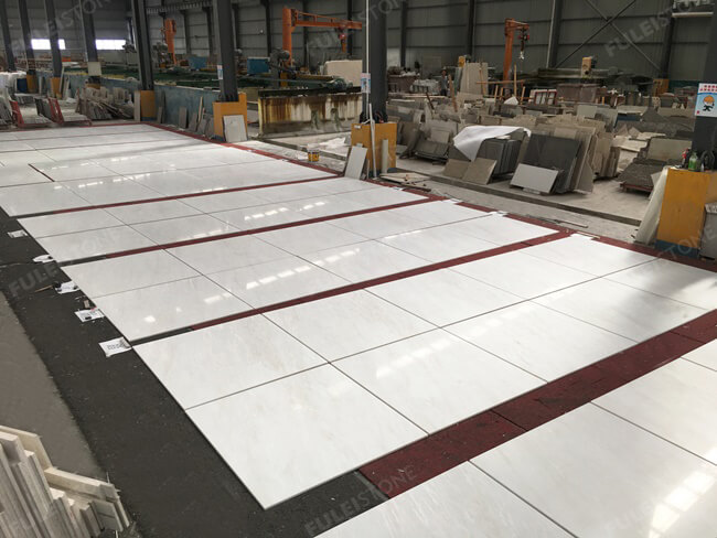 Bianco Rhino Marble Tiles Drylay for Project