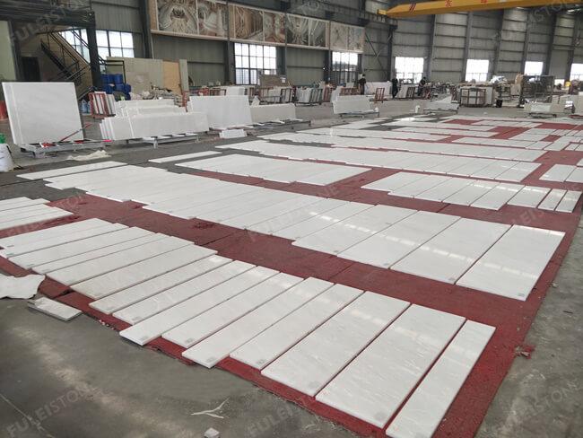 Bianco Rhino Stair Tiles