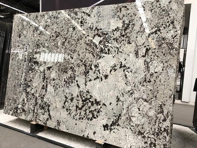 Bookmatched luxury natural Delicatus White granite slab(1)