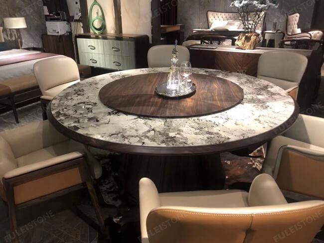 Polished Alpinus granite table