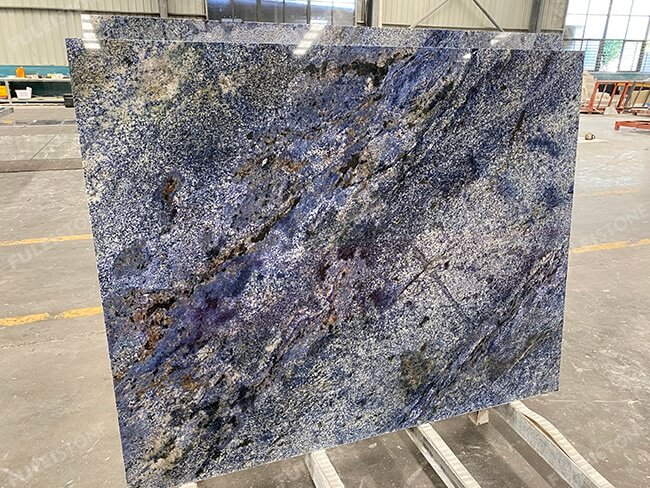 finished blue bahia granite tiles