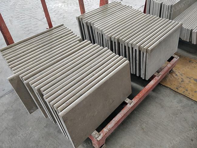 honed jura grey limestone pool coping (3)