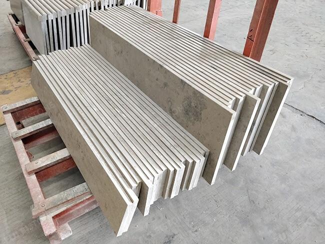 honed jura grey limestone stairs (2)