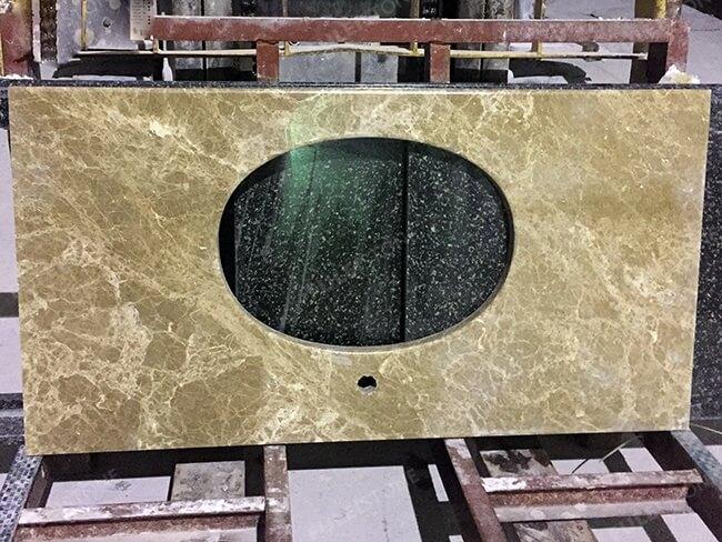 light emperador marble bathroom vanity tops