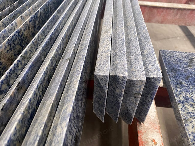 mitred joint cutting of blue bahia granite (2)