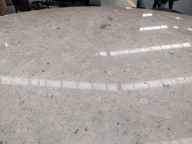 polished jura grey limestone table