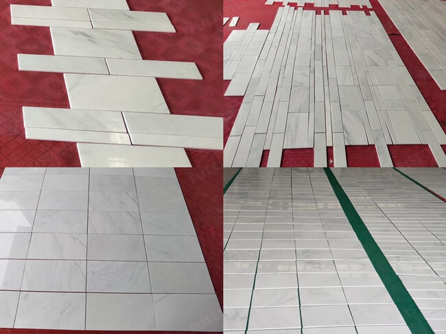 Asian Statuary Marble Tiles Dry Laying