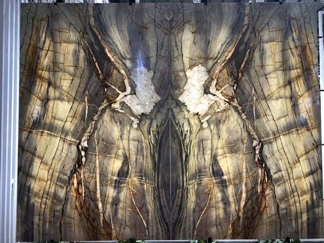 Backlit Michelangelo Quartzite for Wall