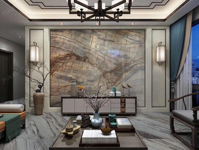 Michelangelo Quartzite TV Wall Panel