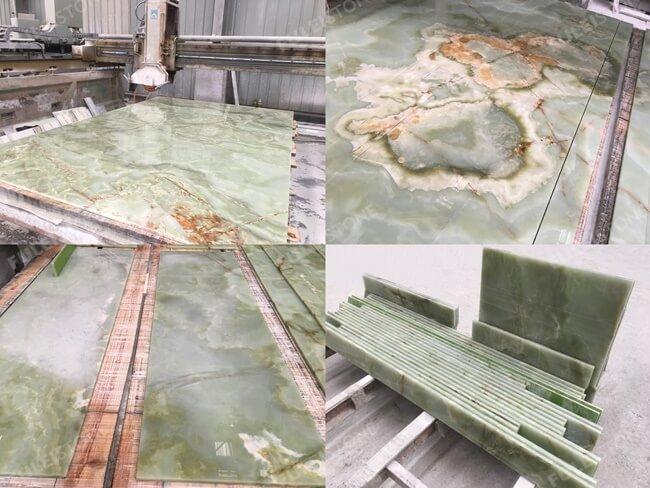 Onice Verde Afgano Green Onyx Tiles