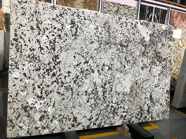 polished everest white granite big slabs (3)