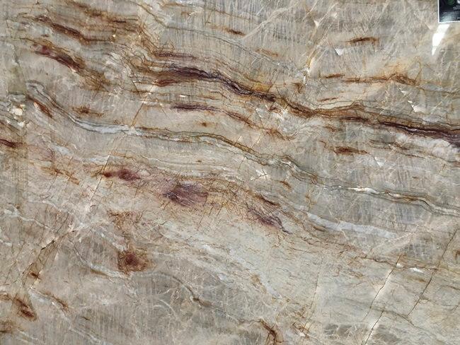 Brazilian Nacarado Quartzite slab close-up