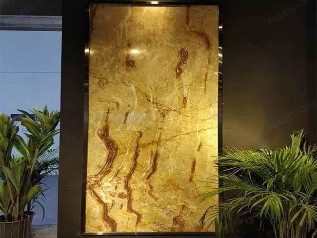 Brazilian Nacarado Quartzite slab for wall