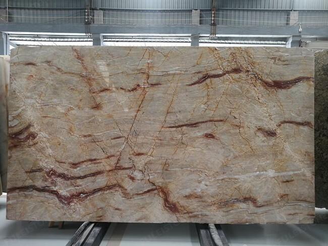 Brazilian Nacarado Quartzite slab
