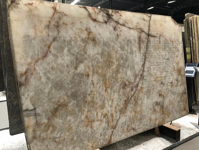Brazilian Polished Lumix Quartzite slab