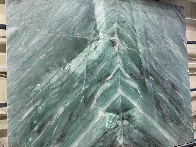 Emerald Quartzite Bookmatched Veins