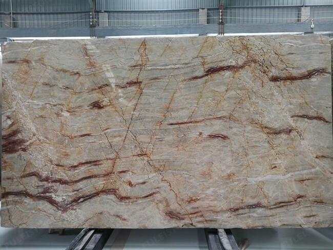 Natural Brazilian Nacarado Quartzite slab