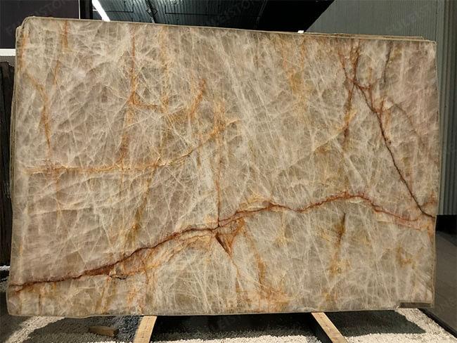Natural Polished Lumix Quartzite slab